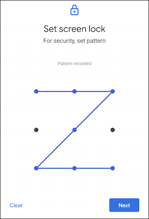 android change login to pattern security - grid - z pattern