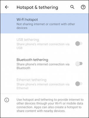 android wifi hotspot - enable - settings -