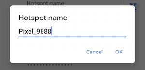 android wifi hotspot - enable - settings - change hotspot name