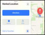 add addresses apple maps iphone ipad ios15 how to