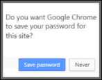 save passwords in web browser security