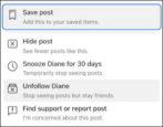 facebook hide freeze unfollow unfriend how to