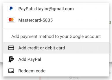 gmail google one - 100gb basic package - payment options