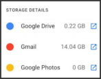 gmail out of disk space - upgrade more space google one subscription