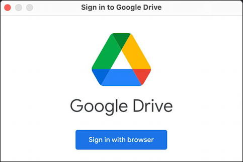 google drive for desktop - mac macos - sign in to google drive for desktop