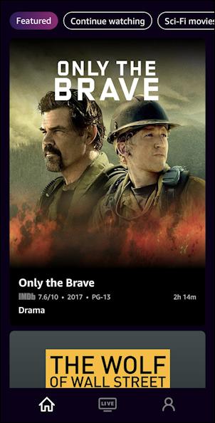 imdb tv iphone ios - home screen movies