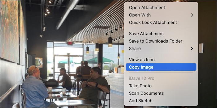 mac apple mail - copy image menu context