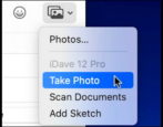insert iphone photo into apple mail email writte mac macos how to