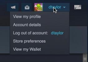 steam on Mac - main menu