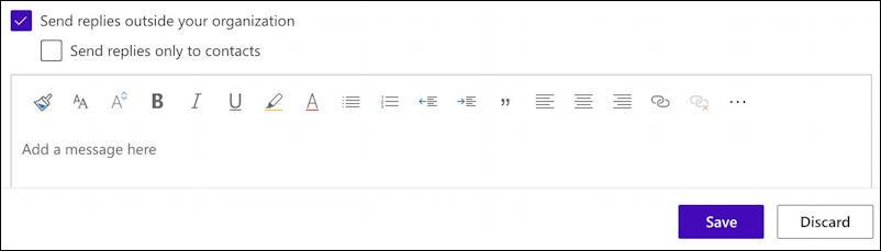 microsoft.com - settings preferences - automatic replies - message to send