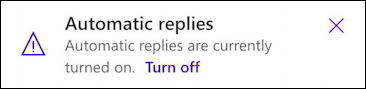 outlook - automatic replies - warning notice