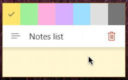 sticky notes - windows 10 win10 pc - color palette