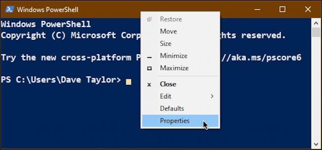 windows microsoft powershell - right-click menu