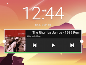 android add spotify widget home screen - stretched full width