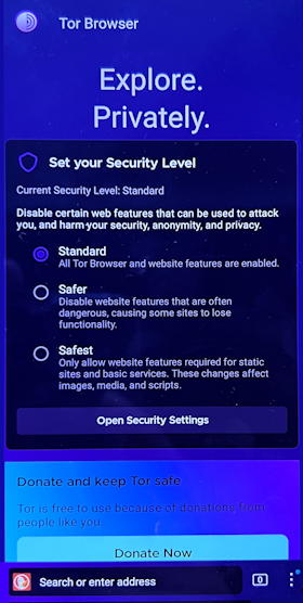 android anonymous web browsing tor browser android smartphone - tor splash screen