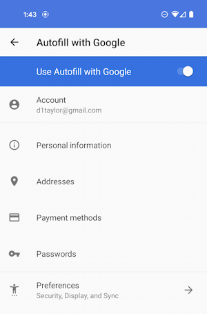 android autofill service from google