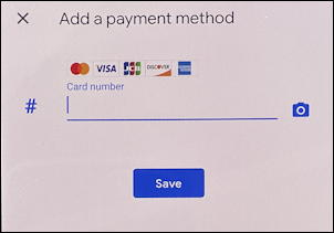 google autofill android phone device - add payment method