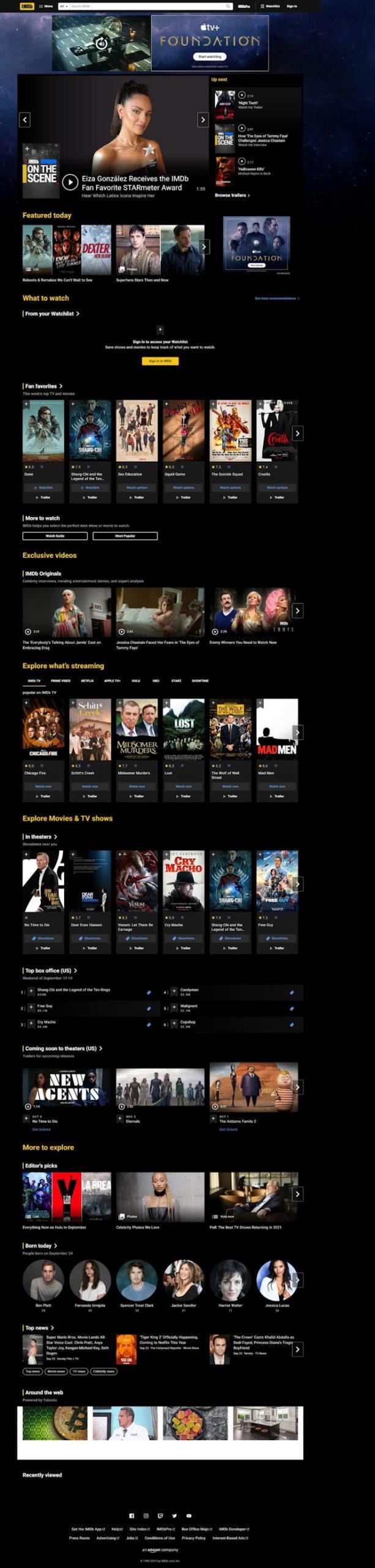 imdb.com full web page capture