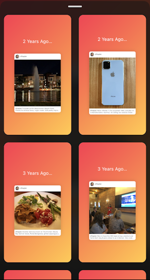 instagram stories - on this day - stories creator - see all gallery