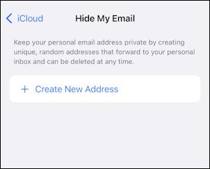 iphone ios 15 - icloud settings - hide my email - turn on