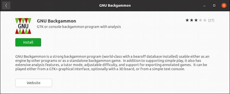 ubuntu linux backgammon - gnu backgammon info