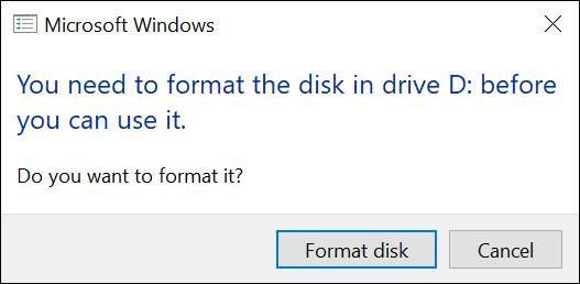 windows mac drive - format disk?
