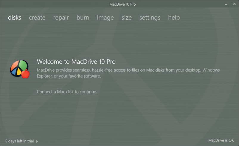 macdrive 10 pro - main window
