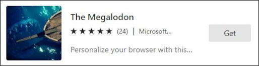 microsoft edge windows - megalodon theme