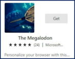 microsoft edge windows - install new theme - the megalodon