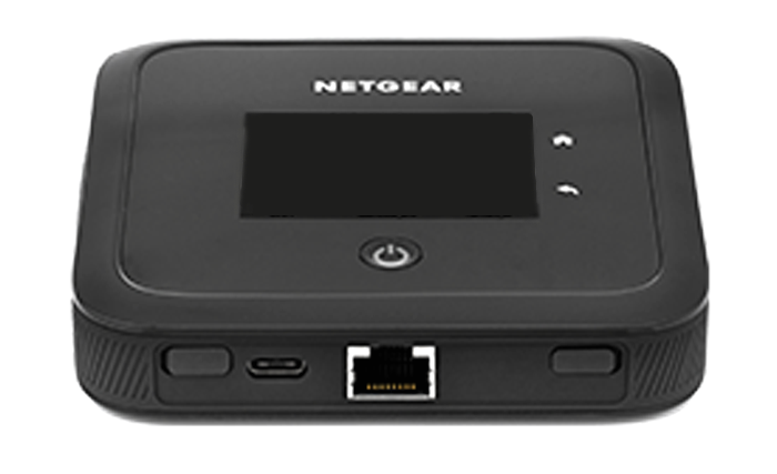 at&t netgear nighthawk 5g hotspot pro - plugs ports edge