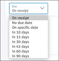 paypal invoice payment due on receipt in 30 days