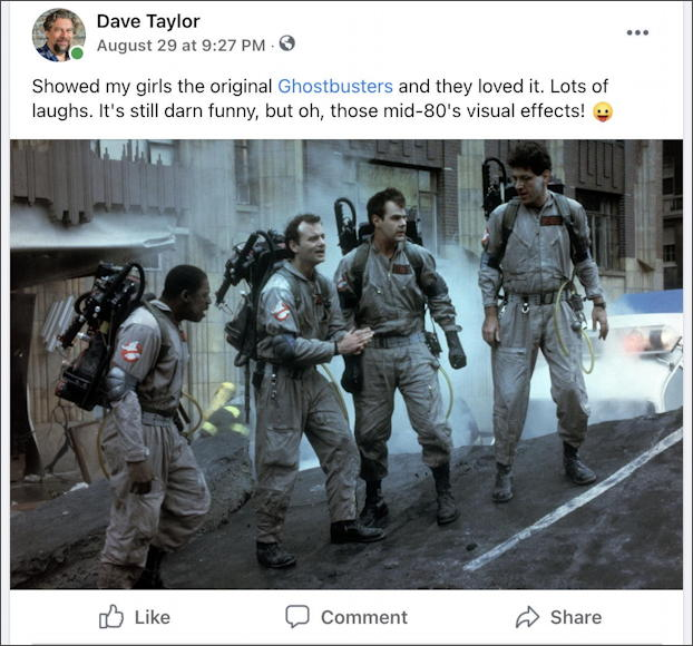 facebook ghostbusters photo posted news feed