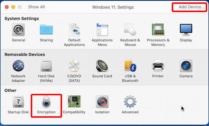 vmware fusion - install windows 11 - customize settings
