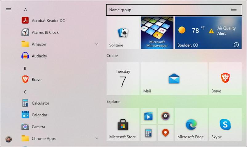 windows 10 win10 - add program tile start menu - tile added