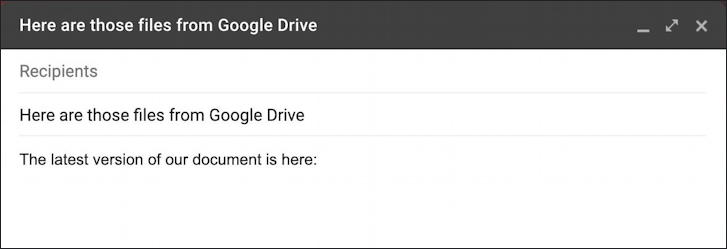 gmail embed google docs document share links - first part of email