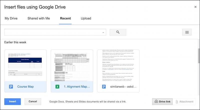 gmail embed google docs document share links - add insert
