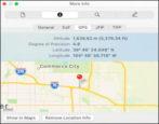 identify photo gps geolocation info privacy mac windows pc remove delete