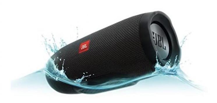 jbl speaker floating in water