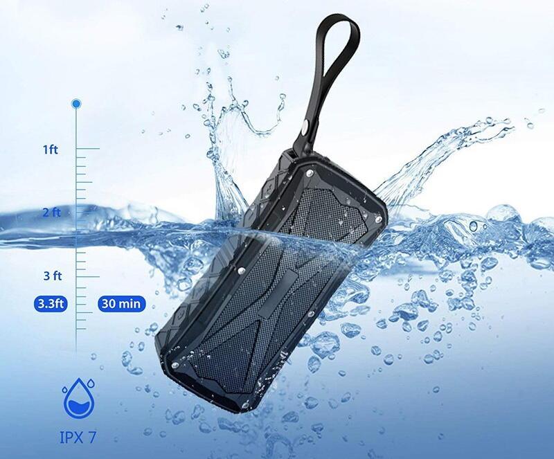 speaker floating in water splash