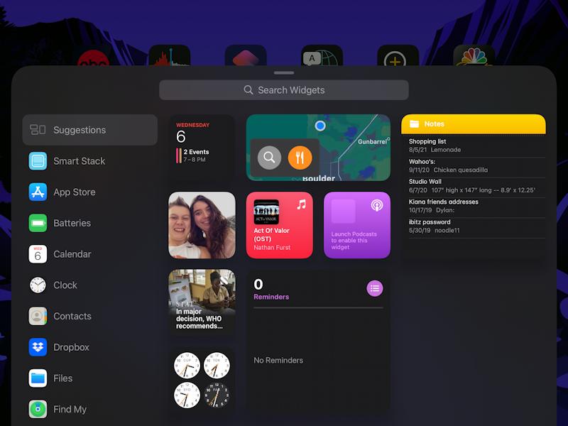 ipad ipados 15 - add widget to home screen - add widgets