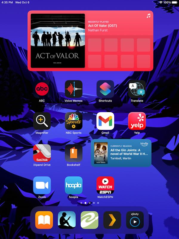 ipad ipados 15 - add widget to home screen - rotated