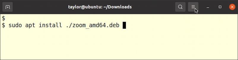 """ubuntu linux zoom app install - terminal - type in 'install app zoom"""""""