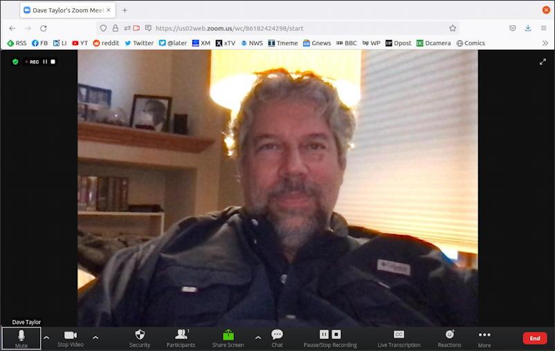 ubuntu linux - zoom meeting within firefox web browser