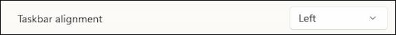 windows 11 taskbar - taskbar alignment = left